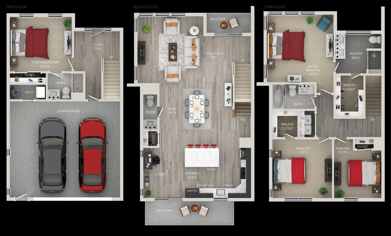 The Red Corner 4 bedroom